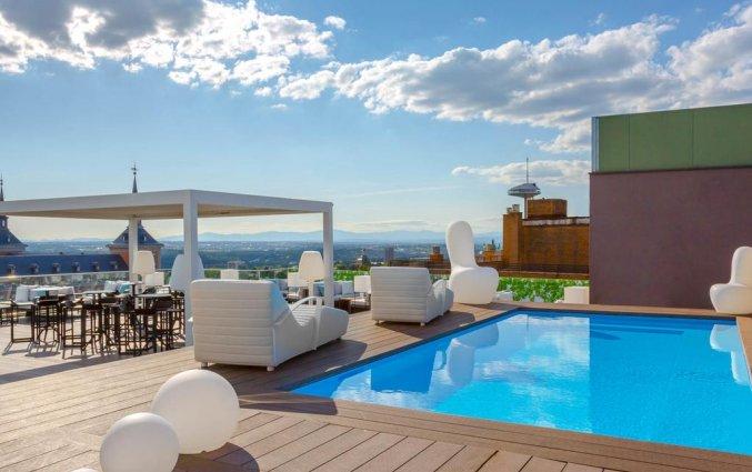 Zwembad van hotel Exe Moncloa Madrid