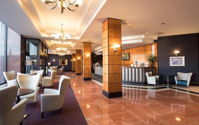 Lobby van hotel Jury's Inn in Edinburgh