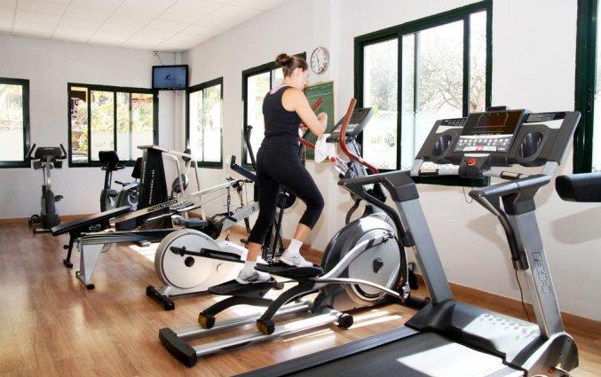 Fitnessruimte van appartementen Santa Rosa in Lanzarote